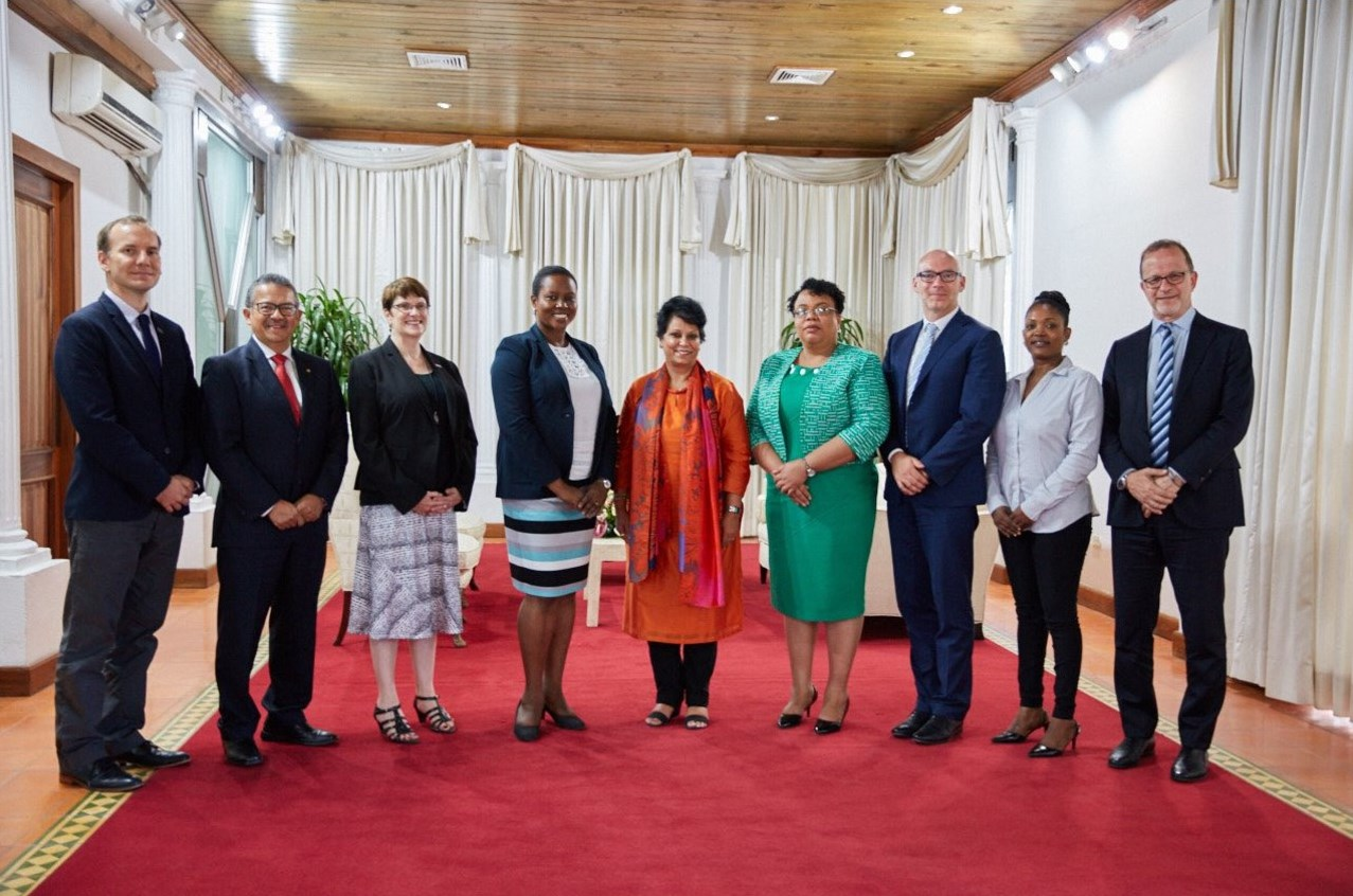 Representatives From Cdc And Usaid Meet With First Lady