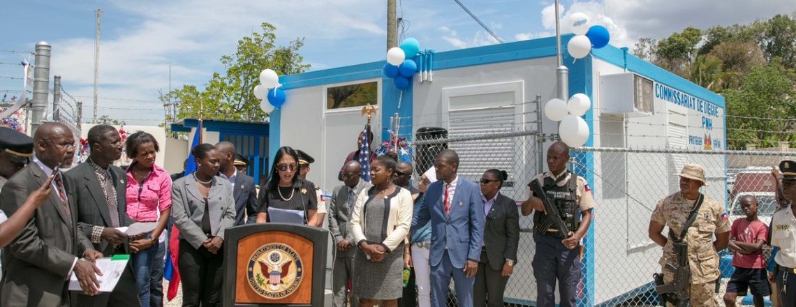 U.S. joins the Haitian National Police to open the police substation in Diegue